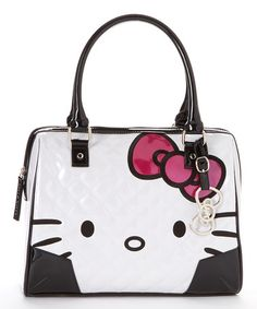 Loving this White Quilted Patent Hello Kitty Shoulder Bag on #zulily! #zulilyfinds