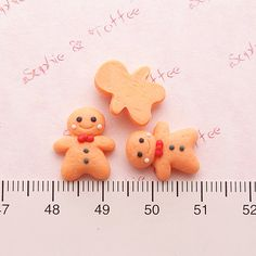 Polymer Clay Sweets Mini Gingerbread Man by SophieToffeeCo on Etsy, $4.80