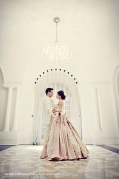 pink wedding dress -axioo photography