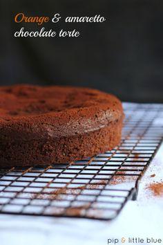 Gluten Free Orange and Amaretto Chocolate Cake