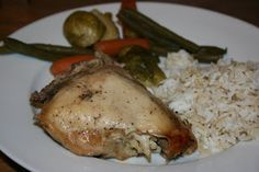 Whole chicken in the crockpot. Super easy. Leave it in the crockpot all day and dinner is ready. Great eaten with a little BBQ. Easy to use in other recipes.
