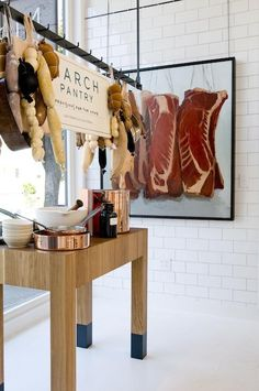 38 Ideas Meat Store Design Kitchens For 2019 Shop Interior Design, Retail Design, Store Design, Restaurant Hotel, Restaurant Design, Travel Outfit Spring, Meat Store, Interior Paint Colors, Interior Painting