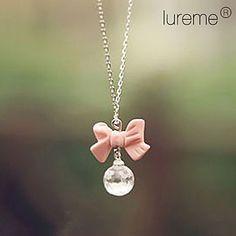 lureme®pink cristalli bowknot collana – EUR € 1.43
