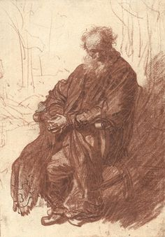 """baroque-art-appreciation: """"Old Man Seated in an Armchair, Full length, Rembrandt Van Rijn Size: cm"""" Rembrandt Etchings, Rembrandt Drawings, Drawing Sketches, Art Drawings, Baroque Art, Dutch Painters, Dutch Artists, Old Master, Gravure"""