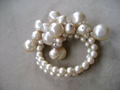 vintage champagne faux pearl expandable bracelet by truthorwear, $65.00