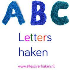 Haak alle letters van het alfabet met deze gratis haakpatroontjes.