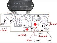 How to make an amplifier 200 Watts using STK4141 with diagram - YouTube