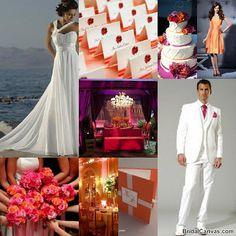 Wedding Inspiration Board In Tangerine Tango