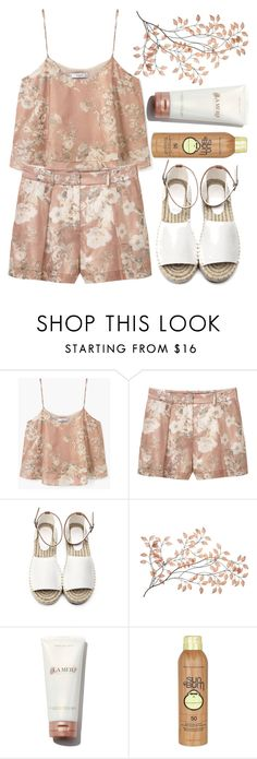 """""""Floral Summers"""" by mareehamasood246 on Polyvore featuring MANGO and Sun Bum"""