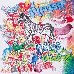 #artwork #record #album #vinyl #coverartwork #inlay #kindredspiritsrecords #illerdanjeouders #rednosedistrikt #pietparra #collaboration #kidsublime #aardvark #stevendepeven #madebymachine #artdirection #illustration #typography #drawing #cartoon