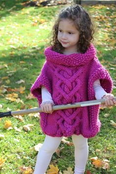 Name: 'Knitting : The Kate Pullover Poncho Kids Knitting Patterns, Kids Patterns, Knitting For Kids, Baby Knitting, Crochet Patterns, Knitted Cape Pattern, Knitted Poncho, Knitting Accessories, Capes