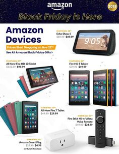 Amazon Black Friday Ad Scan, Deals and Sales 2019 The Amazon 2019 Black Friday ad is here! Be sure to subscribe to our newsletter to receive emails about all the latest Black Friday news and ad leaks ... #blackfriday #amazon Amazon Black Friday, Black Friday Ads, Friday News, Amazon Fire Tv Stick, Alexa Voice, Online Shopping Deals, Frugal, Budget