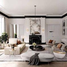 Home Living Room, Interior Design Living Room, Living Room Designs, Luxury Living Rooms, Modern Living Rooms, Living Room Lounge, Dining Room, Living Room Inspiration, Home Decor Inspiration