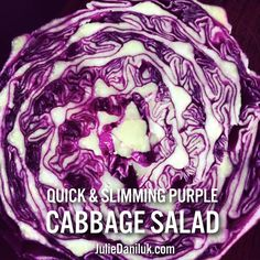 With a name like Daniluk, cabbage is a staple in our home. Our Ukrainian Baba used it to make all sorts of dishes but many of them take a lot of time to prepare. This dish is a quick and easy lunch or side dish that allows the full flavour of the purple cabbage to come through. Blue and purple foods such as purple cabbage have the highest amounts of antioxidants, which help prevent and treat many diseases.