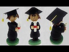 How to make a 3D quilling graduation boy with diploma quilling doll DIY (tutorial + free pattern) - YouTube