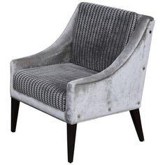 Lucina Lounge Chair With Arms, In Fabric From Kravet With Buttons By... ($4,244) ❤ liked on Polyvore featuring home, furniture, chairs, accent chairs, brown, lounge chairs, upholstery fabric furniture, upholstered chair, upholstered furniture and upholstery chairs