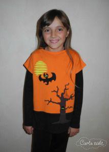 Halloween cool Shirt Oberteil kostenlose Applikationsvorlage von Elbpudel Fledermaus Grusel free applique pattern bat creepy