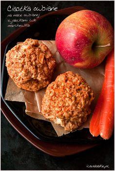 Ciastka owsiane z jabłkami lub marchewką