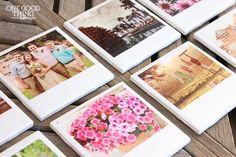 "Transform regular photo prints and ceramic tiles into ""Polaroid"" photo coasters."