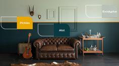 muur verven in 2 kleuren groen