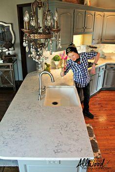 lowered kitchen Silestone countertops