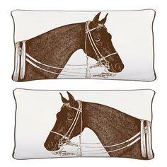 Bedding by Thomas paul Equestrian Bedroom, Equestrian Decor, Equestrian Style, Horse Pattern, English Riding, Modern Pillows, Bath Linens, Horse Farms, Textiles