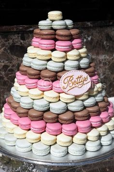 Macaroon Cake Tower by Kelley