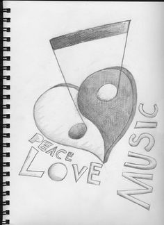 Art drawings easy music 28 ideas for 2019 Music Drawings, Love Drawings, Beautiful Drawings, Easy Drawings, Tattoo Drawings, Realistic Pencil Drawings, Pencil Art Drawings, Drawing Sketches, Sketching