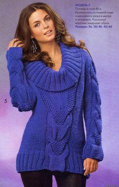 Вязаный пуловер в стиле 80-х 1