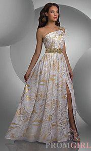 Buy One Shoulder Shimmer Dress at PromGirl