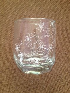 My first decorated glass