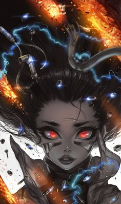 Manga illustration, artwork and designs by freelance UK anime artist Fantasy Dragon, Fantasy Art, Cyberpunk, Manga Cover, Alita Movie, Alita Battle Angel Manga, Desu Desu, Character Art, Character Design