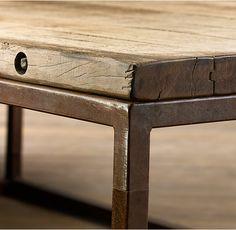 x-brace iron coffee table restoration hardware | funky klassy home