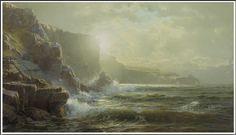 William Trost Richards (1833-1905), Southern Coast of England - 1898