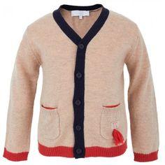 Tartine et Chocolat Beige Wool & Cashmere Blend Cardigan