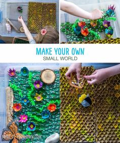 Make your own small world with make-it-your-own.com (Creative activities for kids), featured on Let's Lasso the Moon.  We provide tips and ideas for you to create your own small world in your home or classroom!