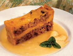 Native American Bread Pudding - Almost every pueblo in New Mexico has its own version of bread pudding, and it is a common feast day dessert, the designated day of each pueblo's patron saint given to them by the Spanish.