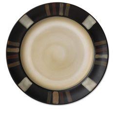 Rachael Ray Dinnerware Double Ridge Dinner Plate Set, 4-Piece, Red ...