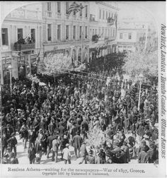 Athens, waiting for the newspapers. War of 1897