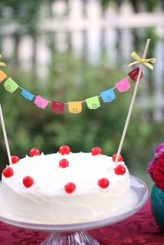 Mini banner bunting for cake top by Vintagebabydoll