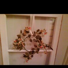 I had some old windows my friend cleaned up and is using for wedding decorations ...  Turned out very nice