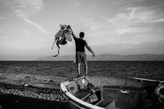 Hermosas fotografías que muestran el momento de la llegada para un refugiado