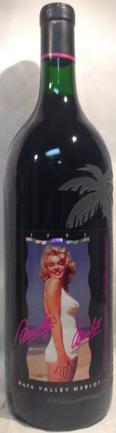 nice 1992 Marilyn Merlot ETCHED MAGNUM Monroe Napa Valley Crimson V-2 No Glitter  1.5L Check more at https://aeoffers.com/product/wine/1992-marilyn-merlot-etched-magnum-monroe-napa-valley-crimson-v-2-no-glitter-1-5l/