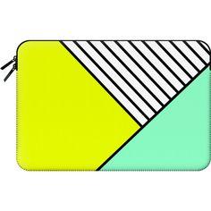 Macbook Sleeve - Neon ($60) ❤ liked on Polyvore featuring accessories, tech accessories, bags y macbook sleeve