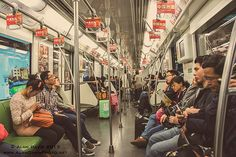 Riding the subway in Shanghai, China is the best way to get around this enormous super city quickly.