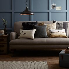 Buy John Lewis Croft Collection Sparrows Cushion Online at johnlewis.com