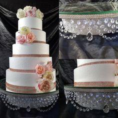 Crystal cake stand , Faux crystal swag drop + LED by CrystalWeddingUK on Etsy Wedding Cake Pearls, Wedding Cakes, Chandelier Cake Stand, Crystal Cake Stand, Wedding Cake Stands, Flower Corsage, Red Feather, Bridesmaid Flowers, Crystal Wedding
