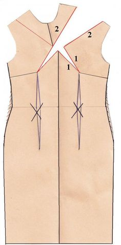 Using darts to create drama - great blog post by The Sewing Divas. Check it out #dress #darts #design #cut #lines #alteration