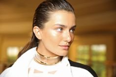 Youthful Glow: From Burberry's radiant canvas to Stella McCartney's flawless facade, fresh, dewy skin was a consistent trend on the runways. Here, the beauty look at Balmain.