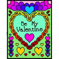 Valentines Day Coloring, Be My Valentine